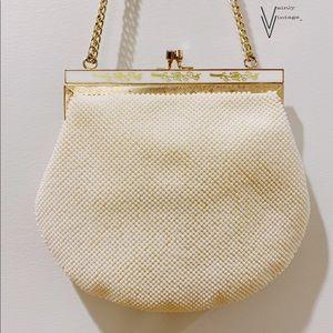 Vintage 40s Seed Bead Art Deco Handbag